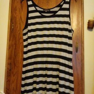 Fever sz XXL (2xl) Horizontal Stripe Tank Dress